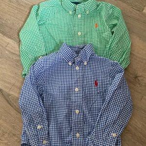Lot of two Ralph Lauren baby dress shirt